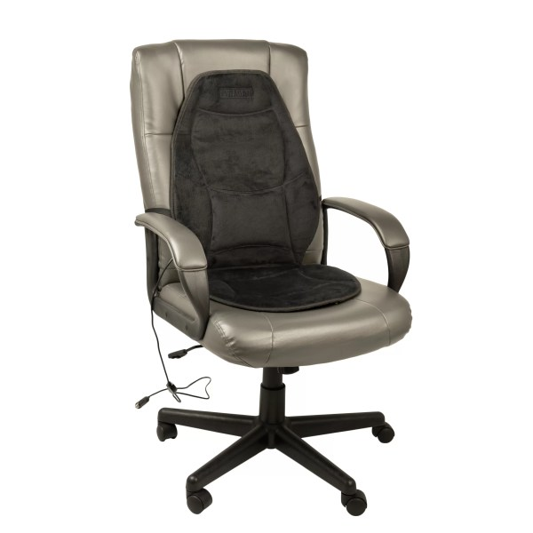 Wagan Velour Heated Seat Cushion With Lumbar Support &