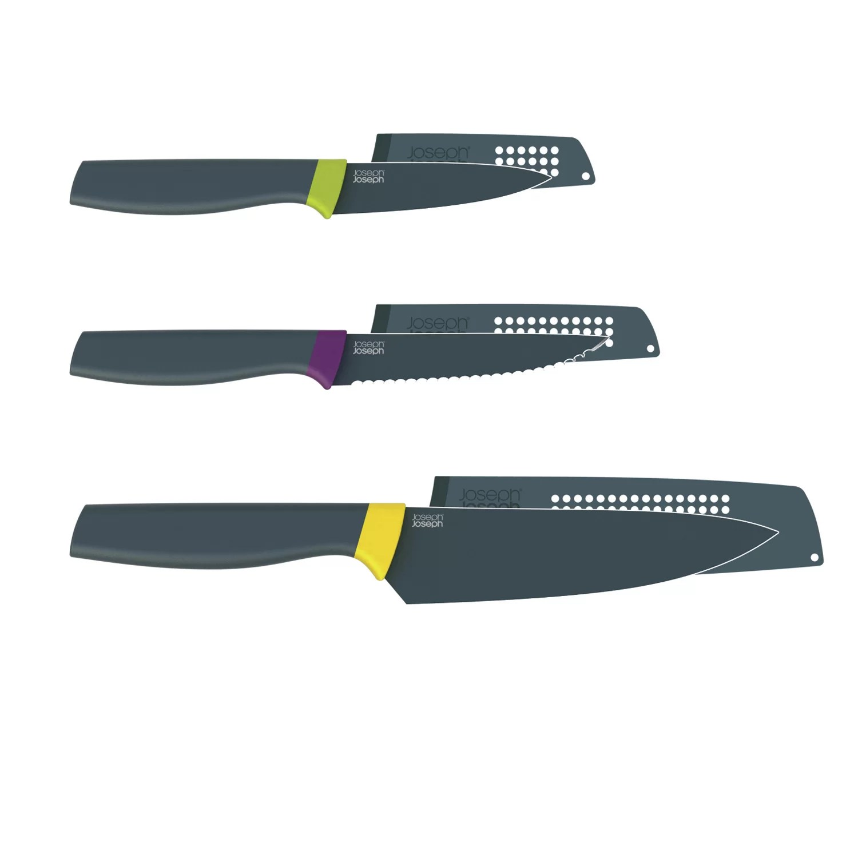 joseph kitchen knives 3 compartment sink elevate piece knife set wayfair