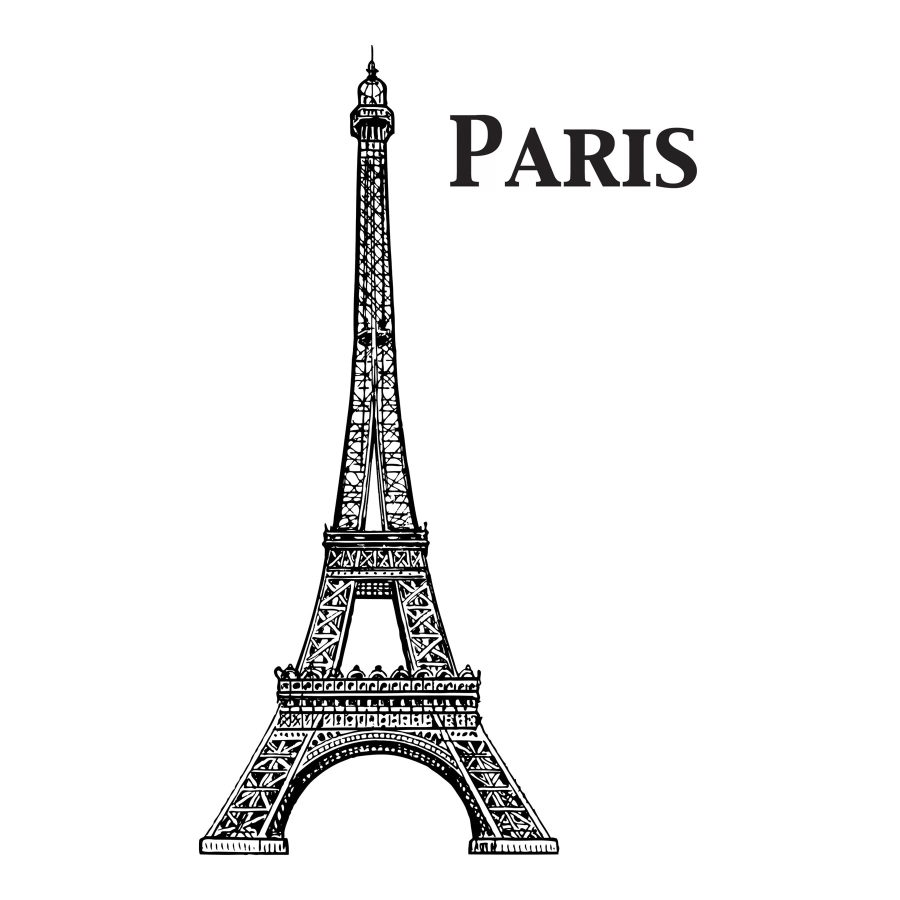Wallpops Home Decor Line Eiffel Tower Wall Decal