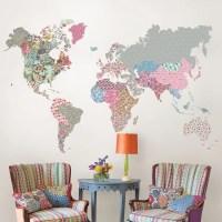 WallPops! Boho World Map Wall Decal & Reviews | Wayfair