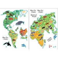 WallPops! Home Decor Line Kids World Map Wall Decal ...