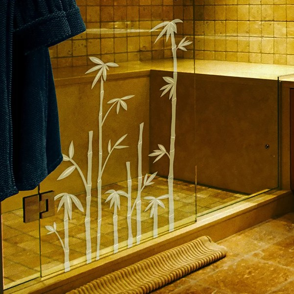 Brewster Home Fashions Bamboo Etched Window Sticker