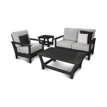 Polywood Harbour 4 Piece Deep Seating Group With Cushion