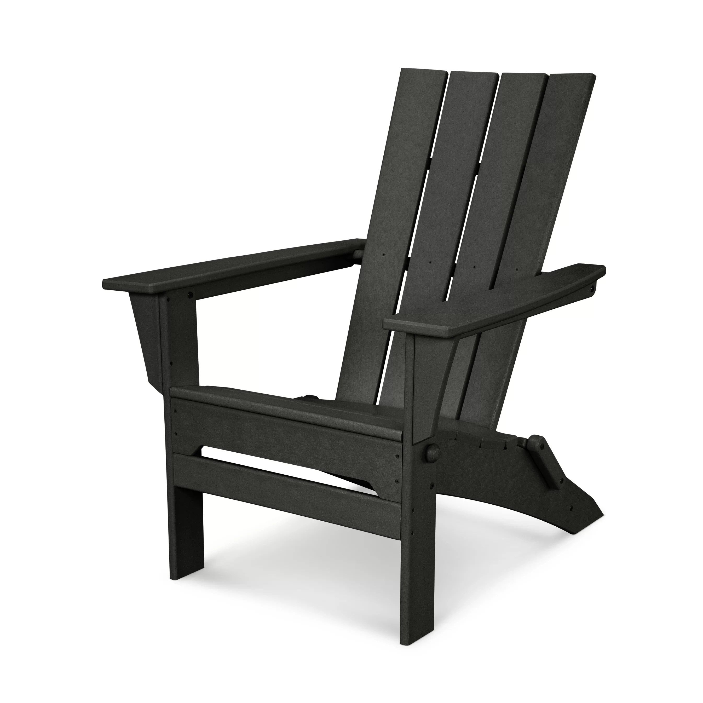 Living Accents Folding Adirondack Chair Polywood Quattro Folding Adirondack And Reviews Wayfair
