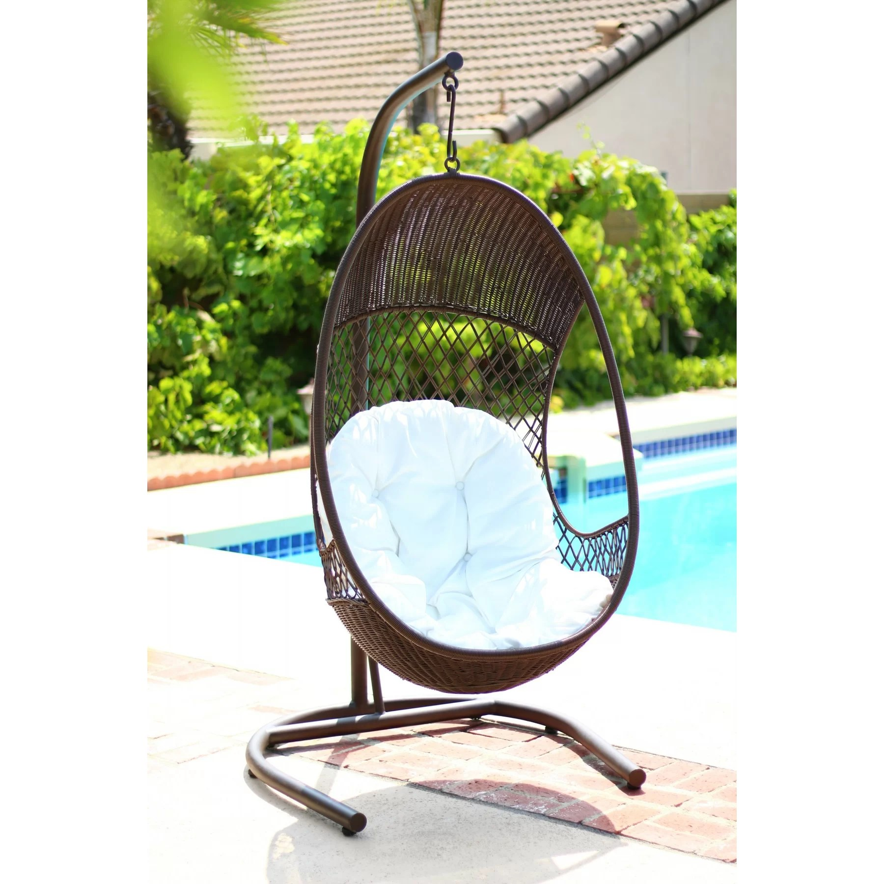Swinging Chair Alpine Alpine Swing Chair With Cushions Wayfair