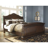Signature Design by Ashley North Shore Sleigh Bed ...
