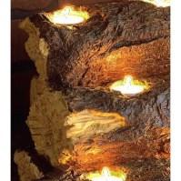 Wildon Home  Resin Tealight Fireplace Log & Reviews | Wayfair
