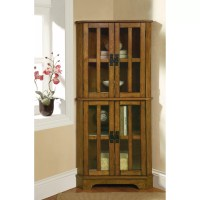 Wildon Home  Corner Curio Cabinet & Reviews | Wayfair