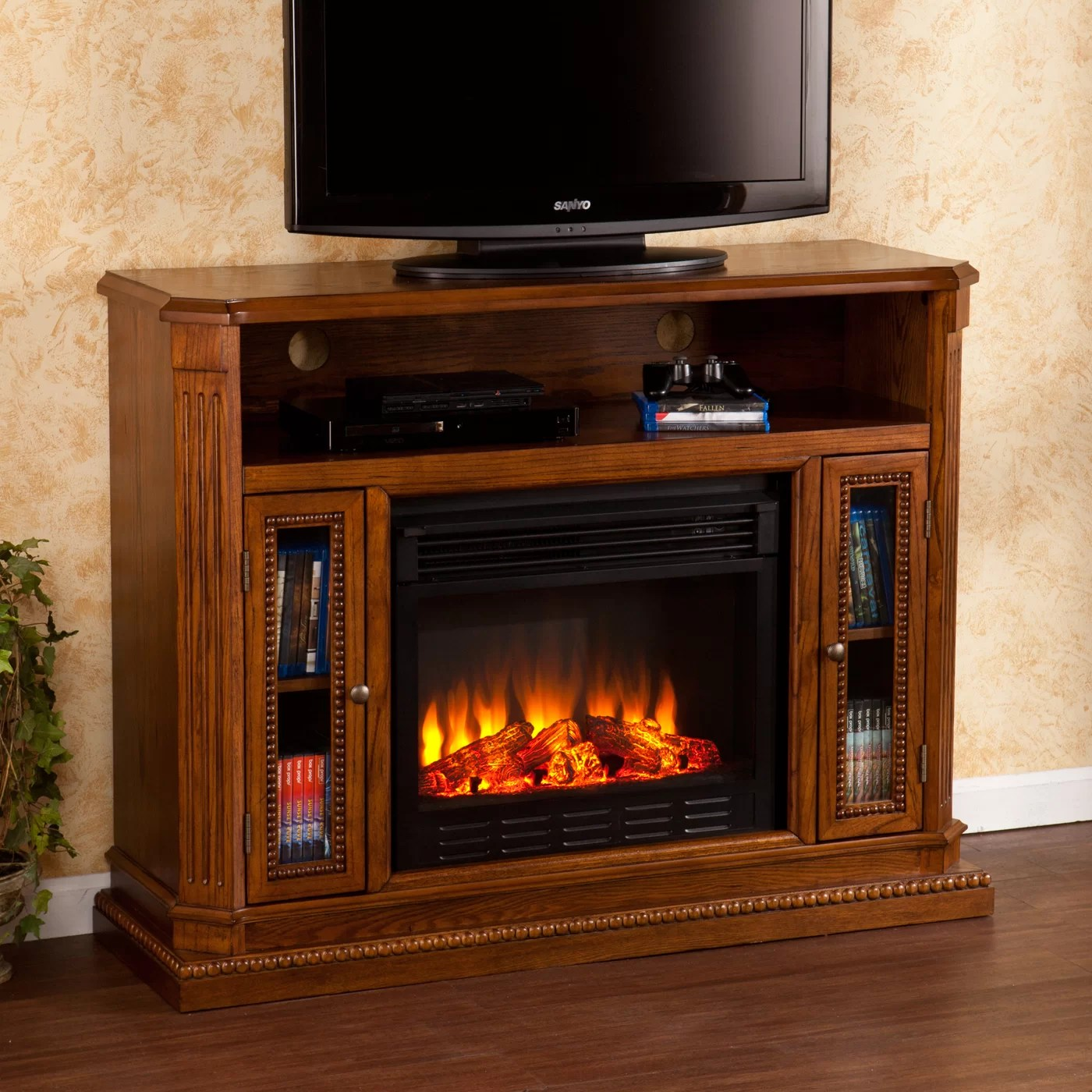 Wildon Home  Delaney TV Stand with Electric Fireplace  Reviews  Wayfair