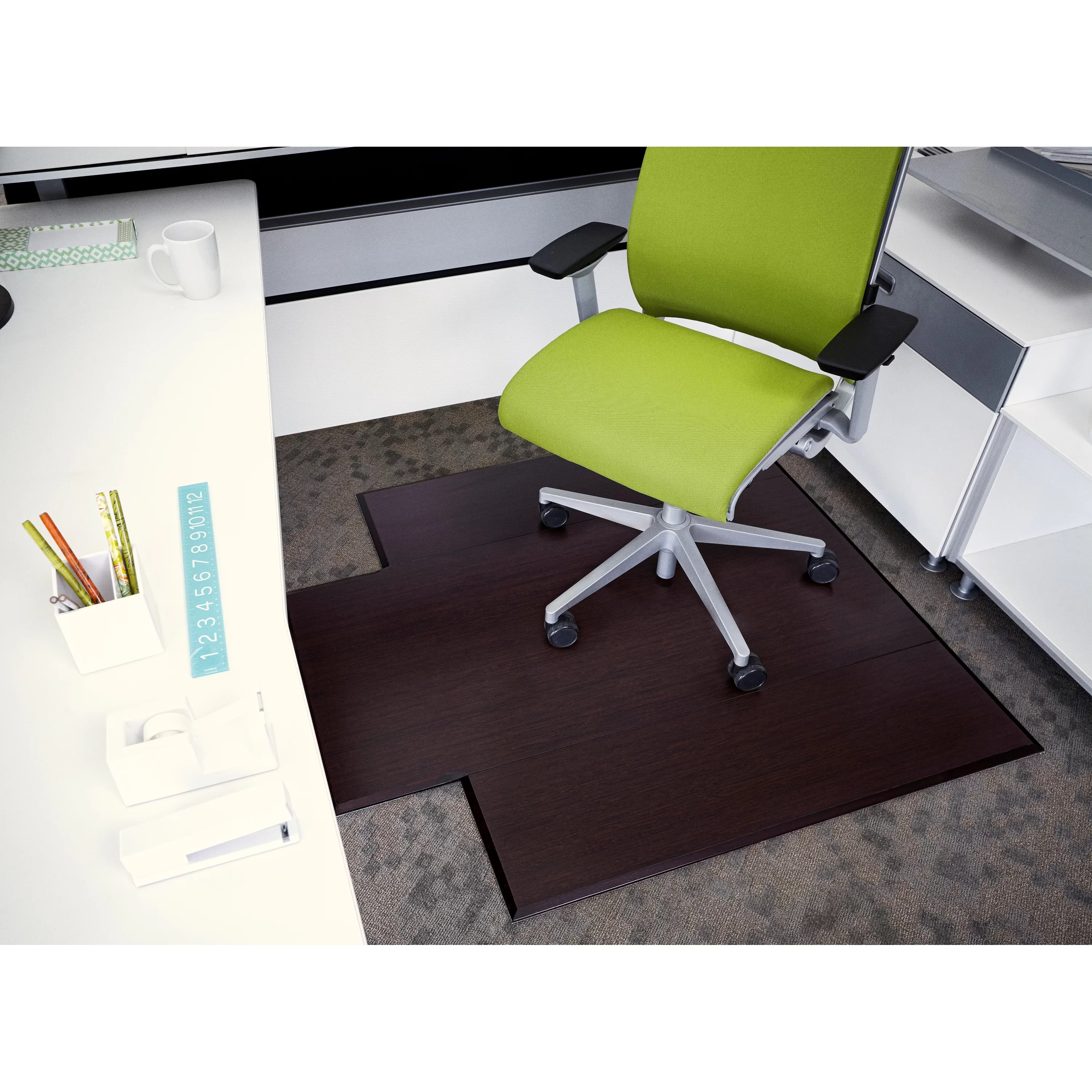 Chair Mats Wildon Home Executive Bamboo Office Chair Mat And Reviews