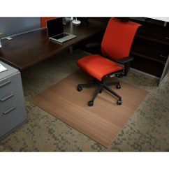 Office Chair Mat 48 X Best Posture For Computer Wildon Home  Low Pile Bamboo Composite