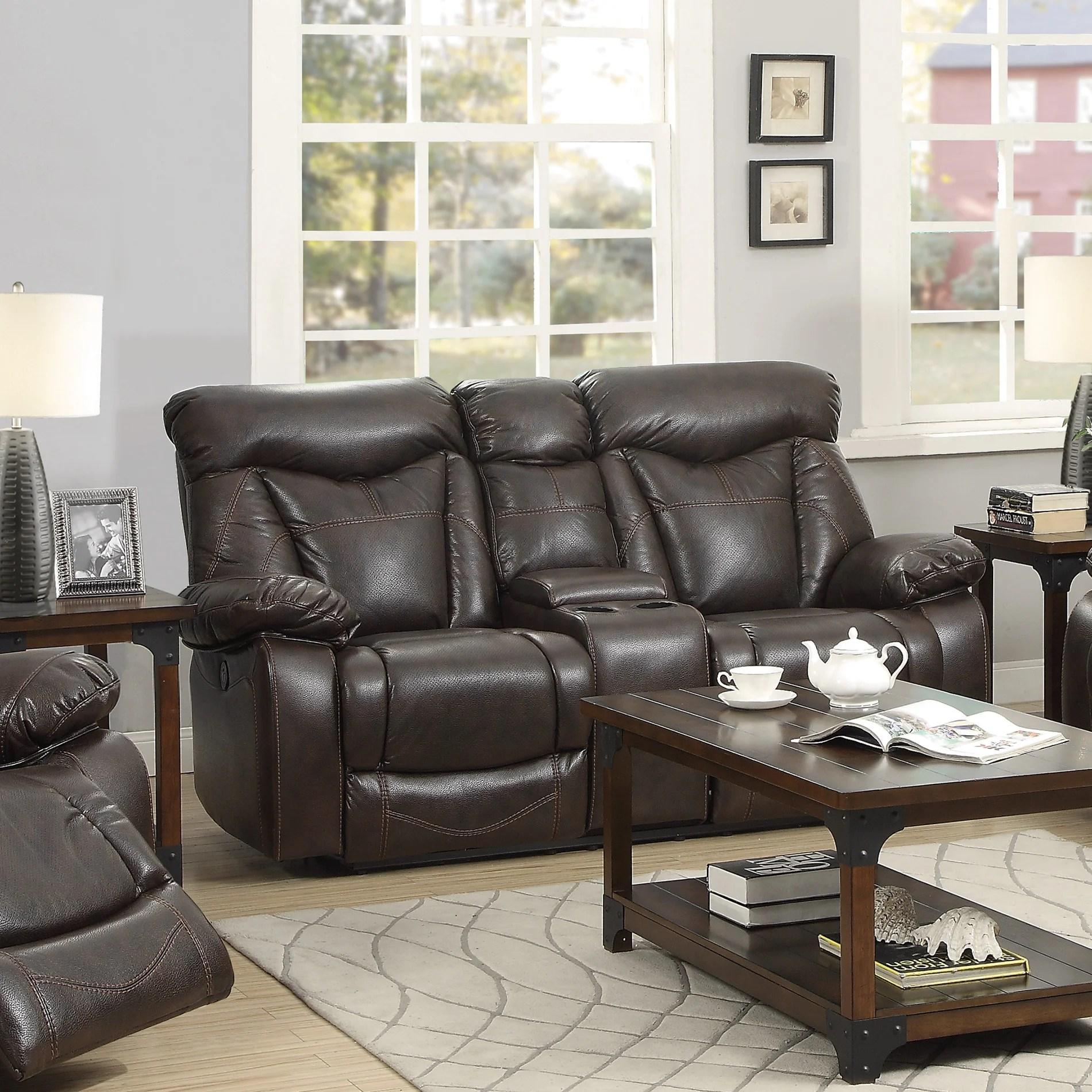 pomona sofa small traditional sofas wildon home  zimmerman power leather reclining loveseat