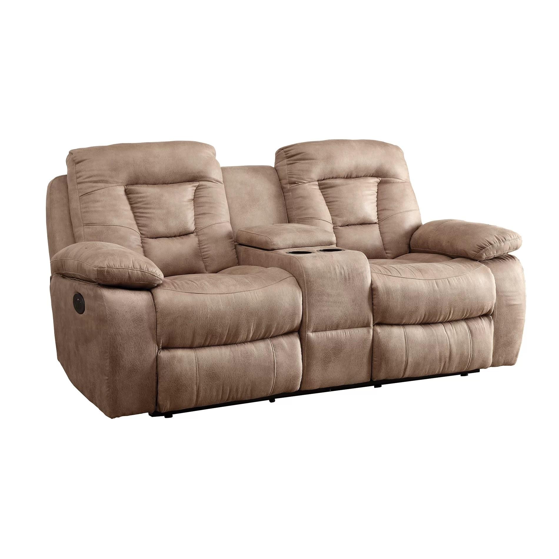 motion sofas gingham sofa bed wildon home  reclining loveseat wayfair ca