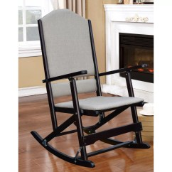 Foldable Rocking Chair Upholstered Club Chairs For Living Room Wildon Home  Cedar Creek Solid Wood Folding