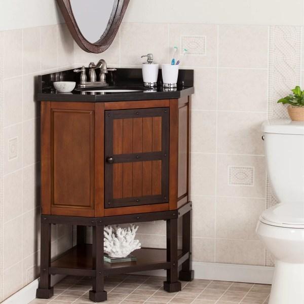 "Wildon Home Errigal 34"" Single Corner Bath Vanity Set"