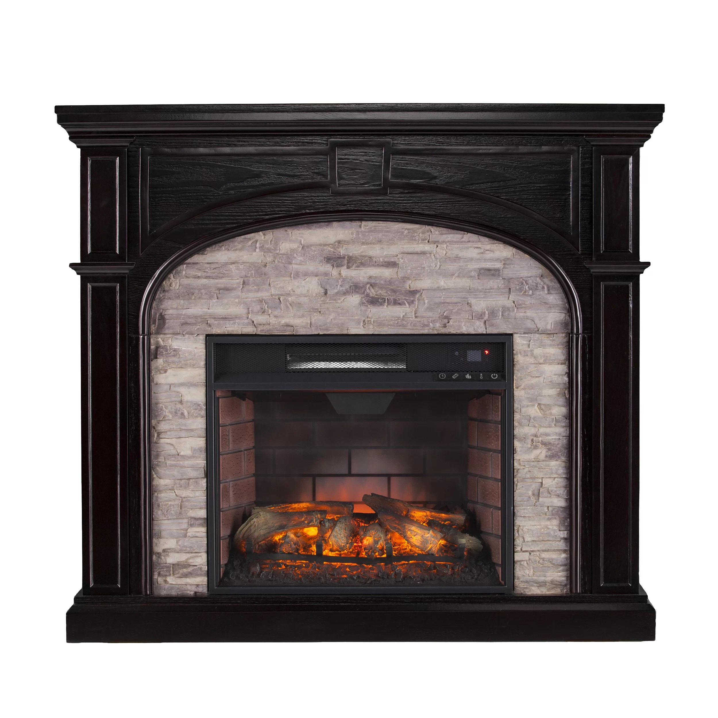 Wildon Home  Nash Stacked Infrared Electric Fireplace  Wayfair