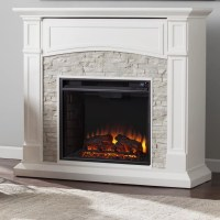 Wildon Home  Sheldon Faux Stone Media Electric Fireplace ...