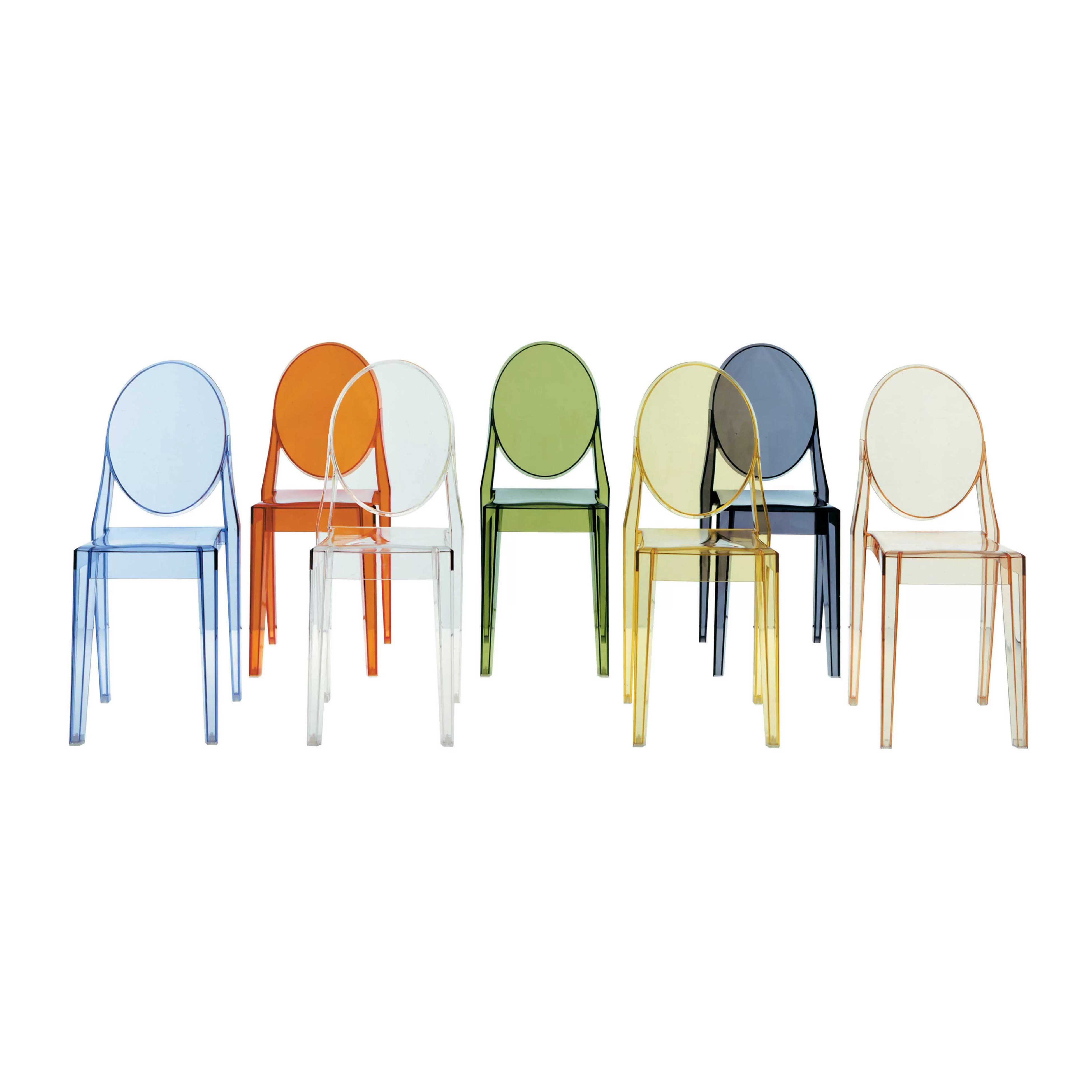 Sedie trasparenti kartell masters chair with arms by philippe