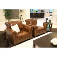 Elements Fine Home Furnishings Paladia Top Grain Leather ...
