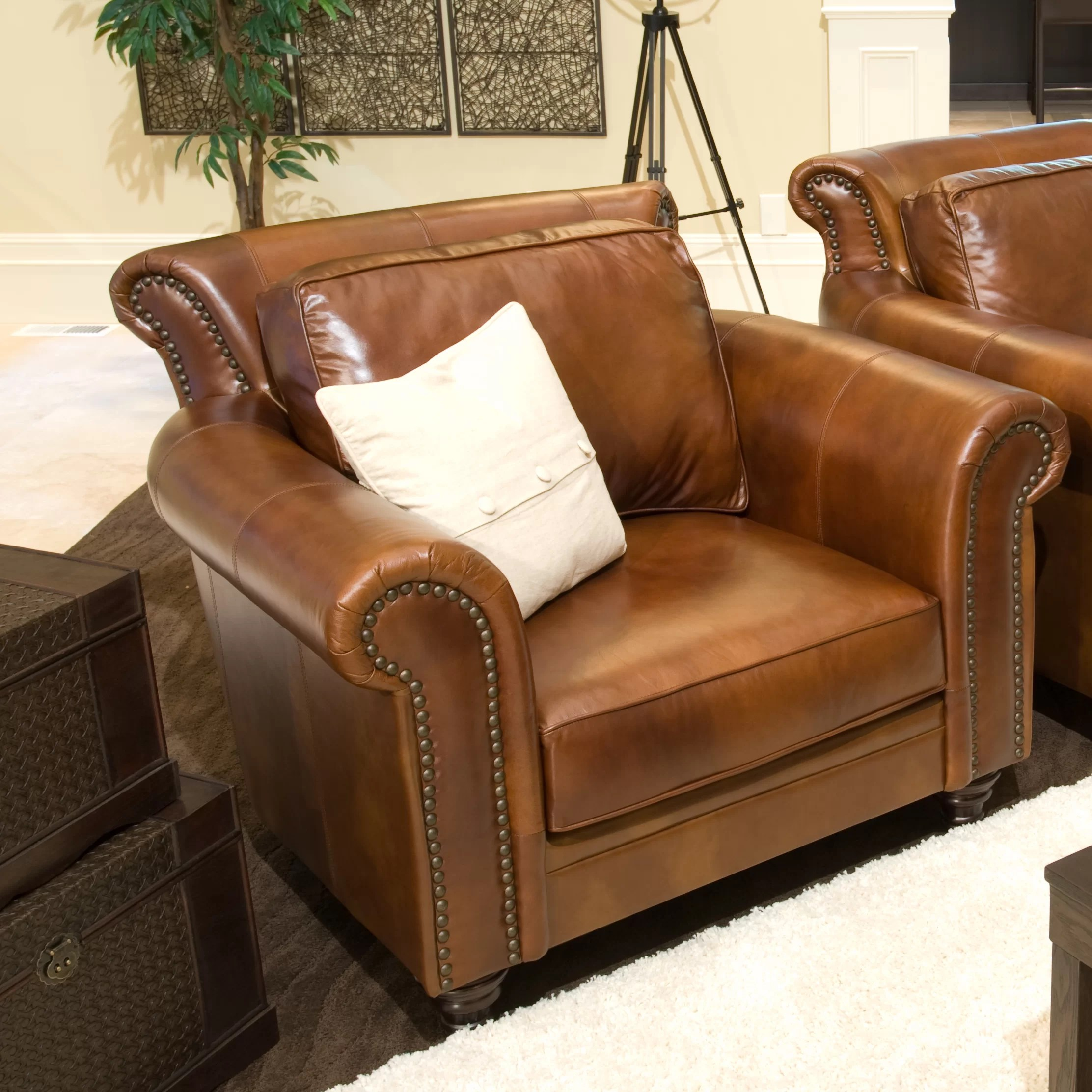 Top Grain Leather Club Chair Elements Fine Home Furnishings Paladia Top Grain Leather