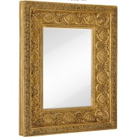 Majestic Mirror Large Traditional Bright Gold Leaf ...