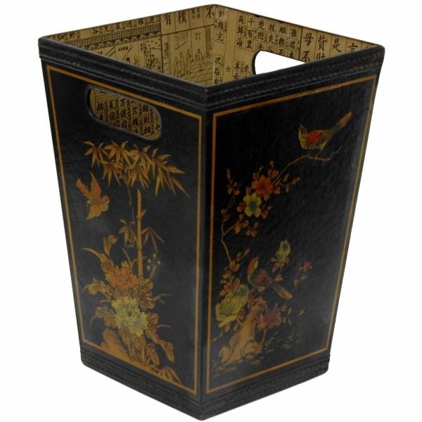Oriental Furniture Trash Bin &