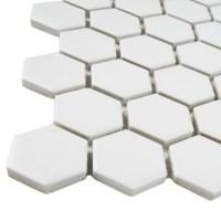 """EliteTile Retro 0.875"""" x 0.875"""" Hex Porcelain Mosaic Tile ..."""