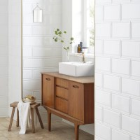 "EliteTile Linio 6"" x 12"" Ceramic Wall Tile in White ..."