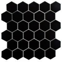 "EliteTile Retro Hexagon 2"" x 2"" Porcelain Mosaic Tile in ..."