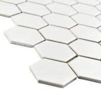 """EliteTile Retro 2"""" x 2"""" Hex Porcelain Mosaic Tile in Matte ..."""