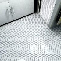 "EliteTile Retro 2"" x 2"" Hex Porcelain Mosaic Tile in ..."