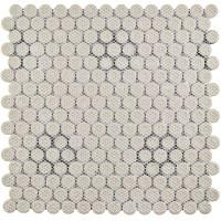 "EliteTile Retro Penny 0.76"" Porcelain Mosaic Tile in Black ..."