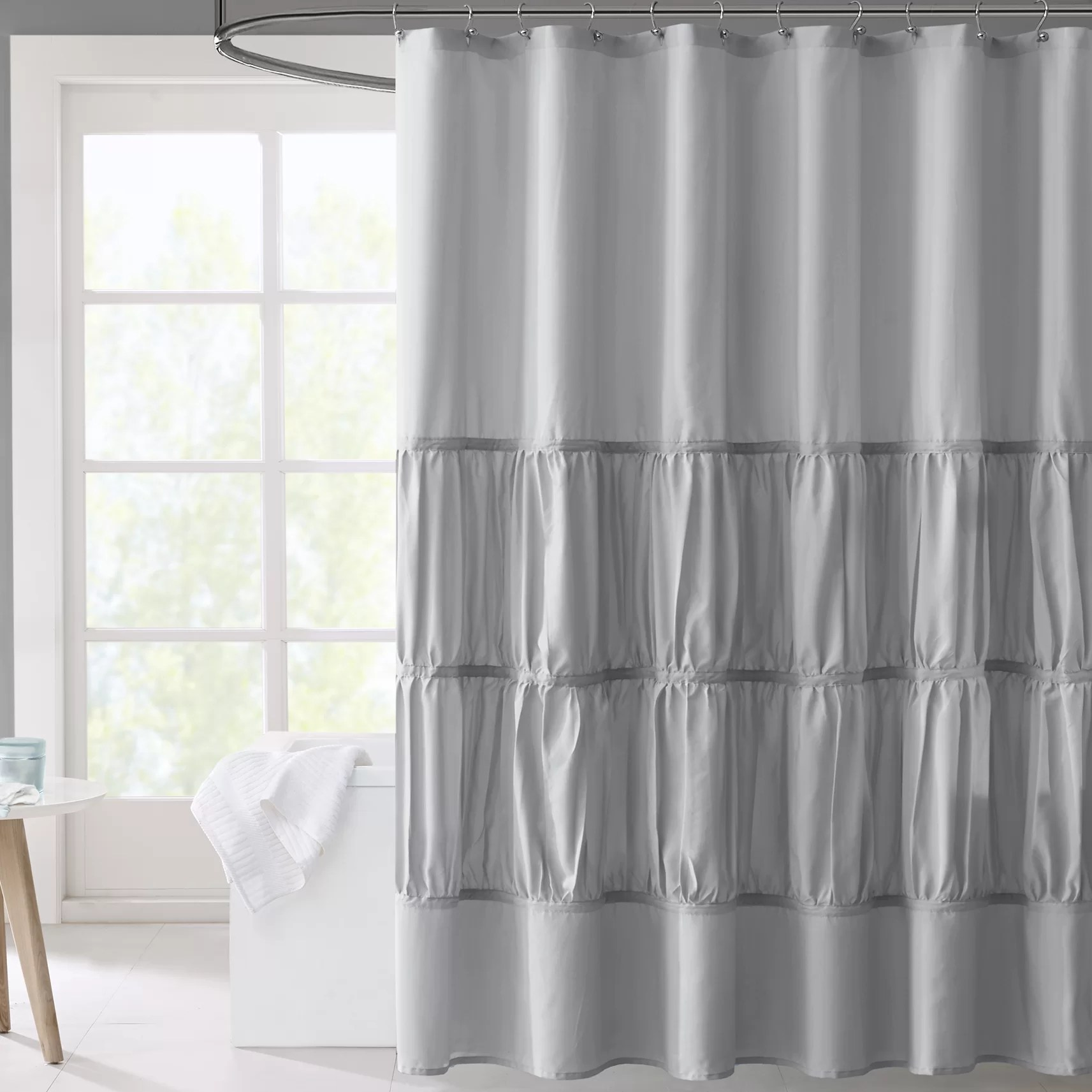 Mi Zone Mirimar Microfiber Shower Curtain Amp Reviews Wayfair