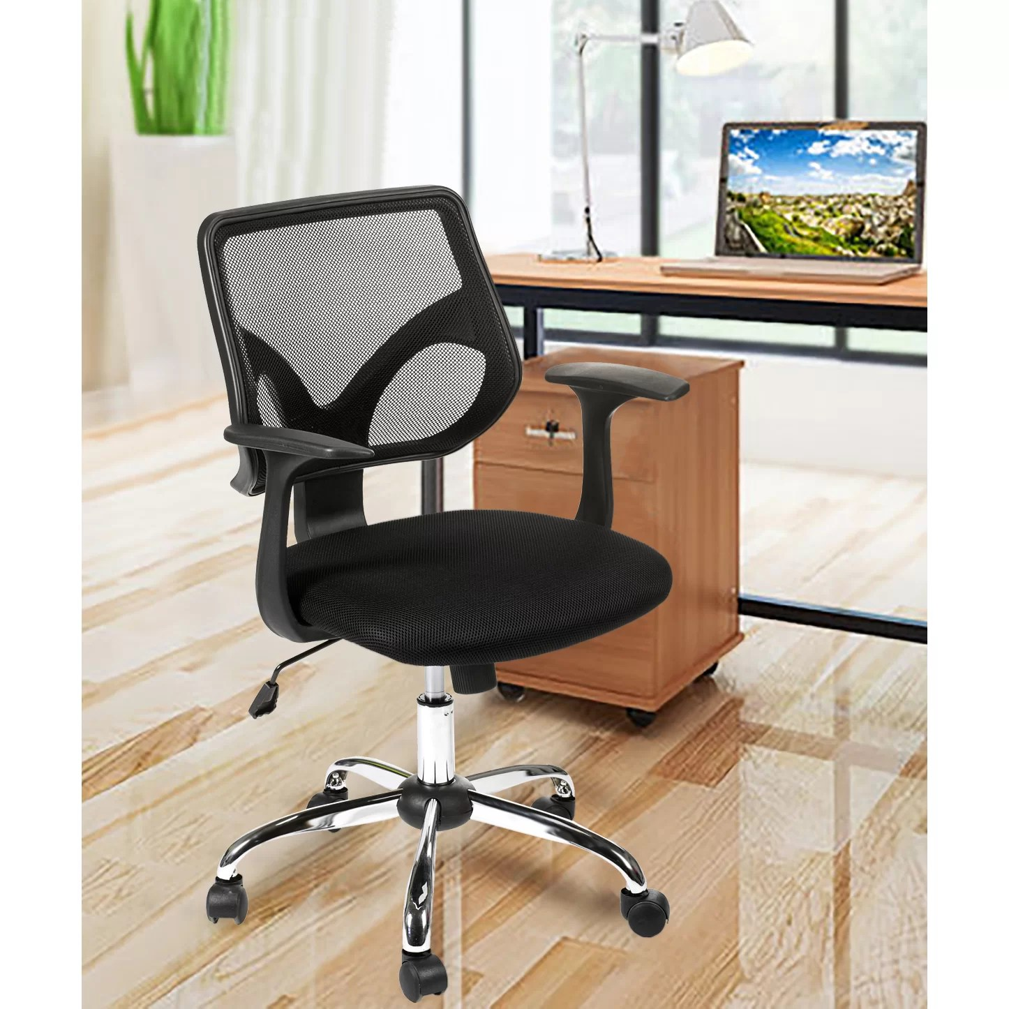 Office Chair With Arms Merax Mesh Office Task Chair With Arms And Reviews Wayfair
