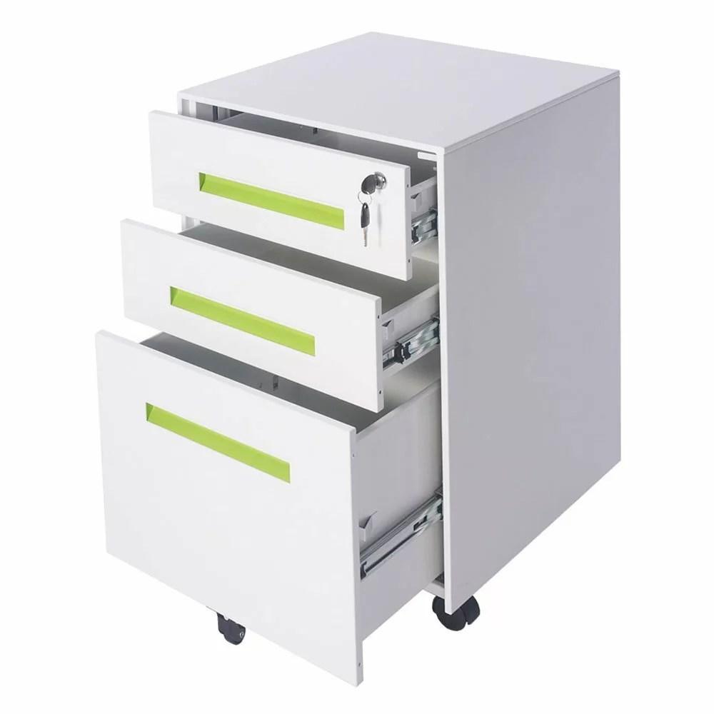 Merax 3Drawer Mobile Filing Cabinet  Wayfair