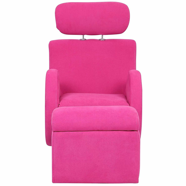 kids chair and ottoman colorful dining chairs merax fabric rocking storage wayfair