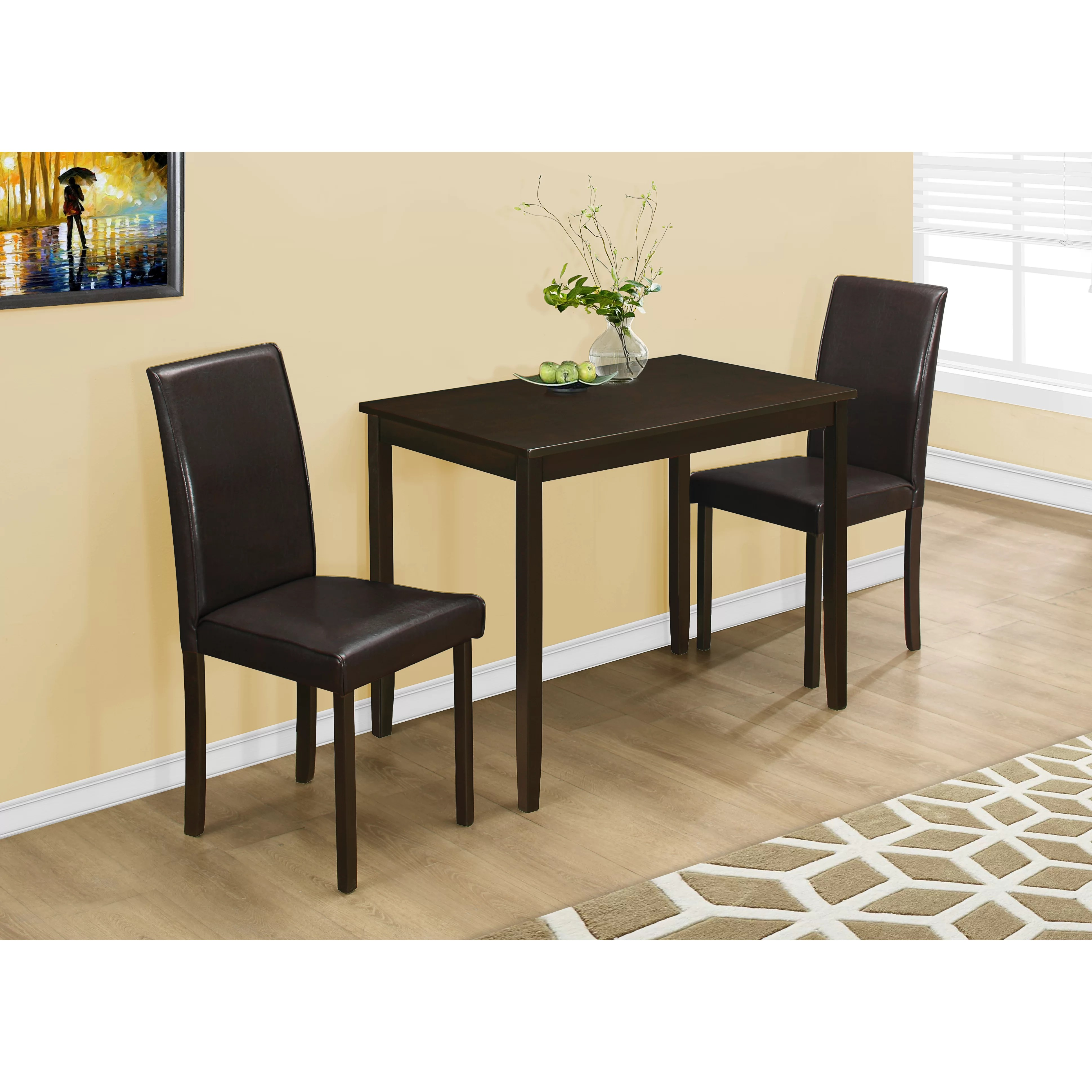 Monarch Specialties Inc 3 Piece Dining Set & Reviews