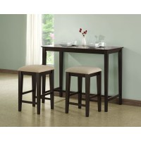 Monarch Specialties Inc. Counter Height Kitchen Table ...