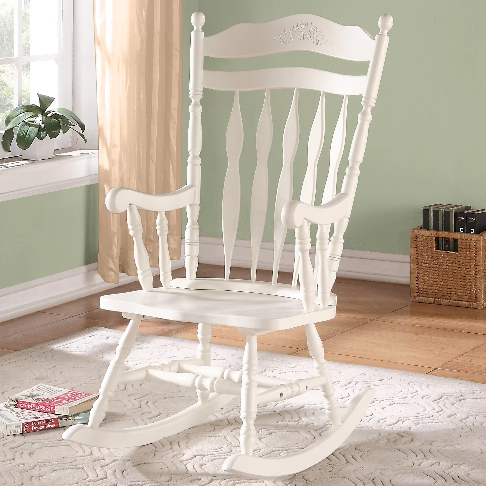 nursery rocking chair wayfair upholstered dining chairs canada monarch specialties inc and reviews