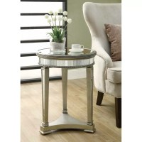 Monarch Specialties Inc. Mirrored End Table & Reviews ...