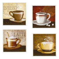 Stupell Industries Espresso, Coffee, Latte, Cappuccino 4 ...