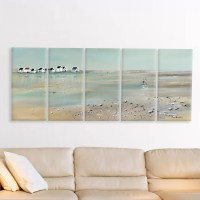 Stupell Industries A Stroll Down on the Beach 5 Piece ...