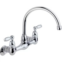 Peerless Faucets Two Handle Wall Mounted Kitchen Faucet ...