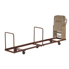 Folding Chair Carts Stainless Steel Legs National Public Seating Dolly And Reviews