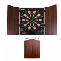 Accudart Charger Electronic Dartboard Cabinet Set