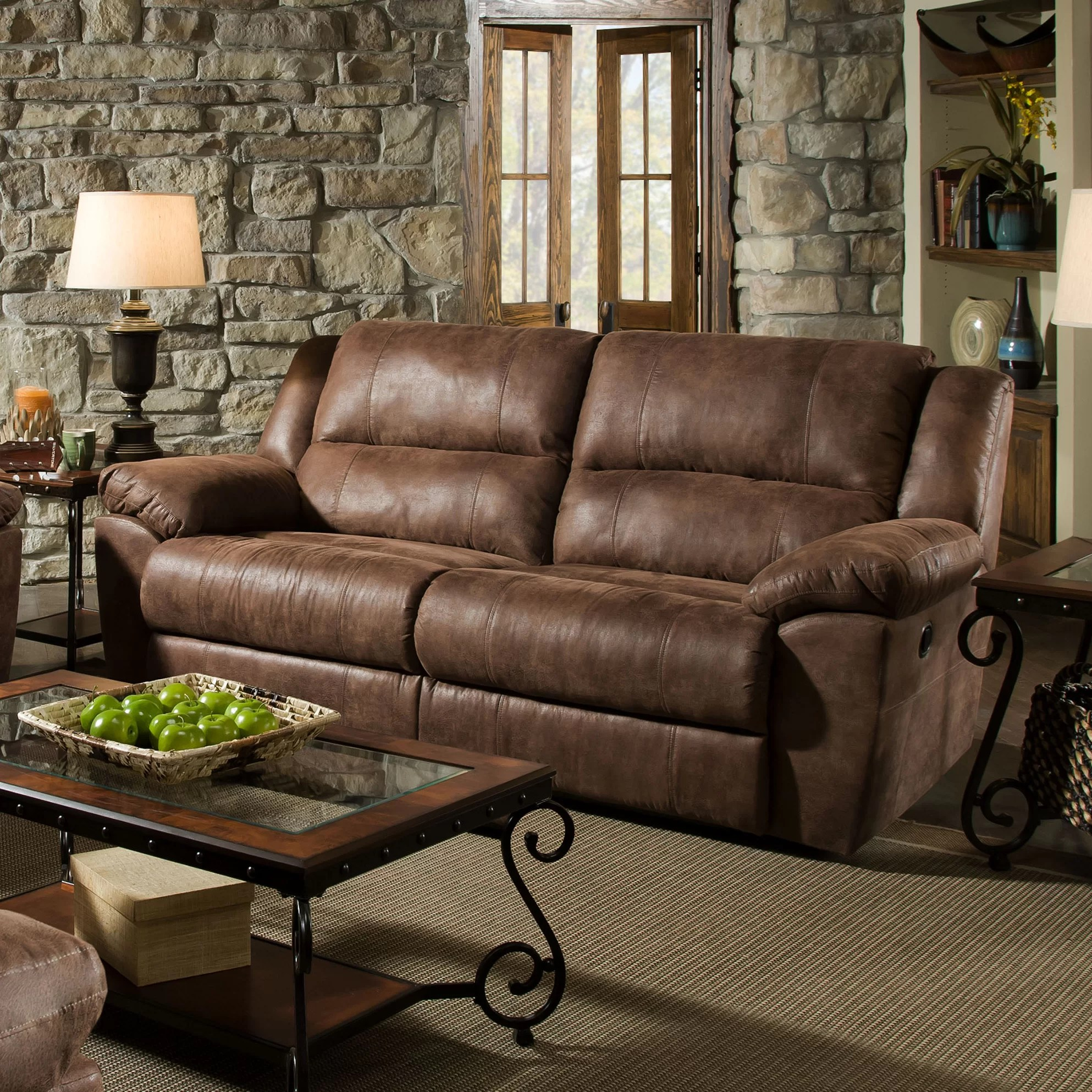 simmons beautyrest motion sofa reviews minnie mouse flip open with slumber upholstery phoenix mocha double