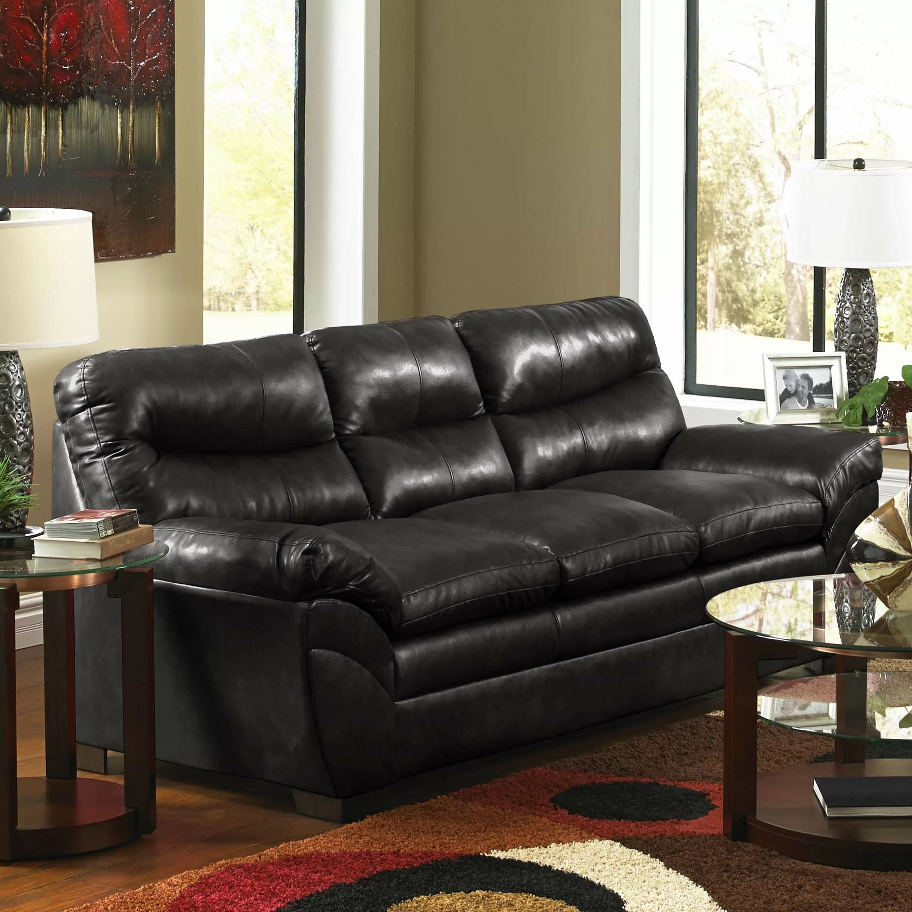 brooklyn bonded leather lounger chair and ottoman kids gaming simmons upholstery soho sofa reviews wayfair