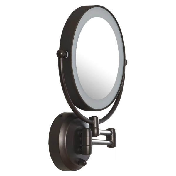 Zadro Led Lighted 1x 10x Magnification Wall Mount Mirror &