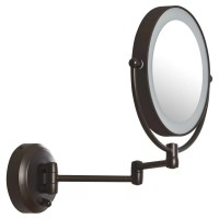 Zadro LED Lighted 1X/10X Magnification Mount Wall Mirror