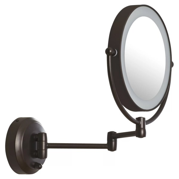 Zadro Led Lighted 1x 10x Magnification Mount Wall Mirror &